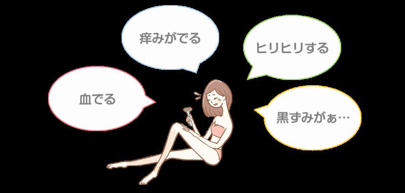 カミソリの肌への影響